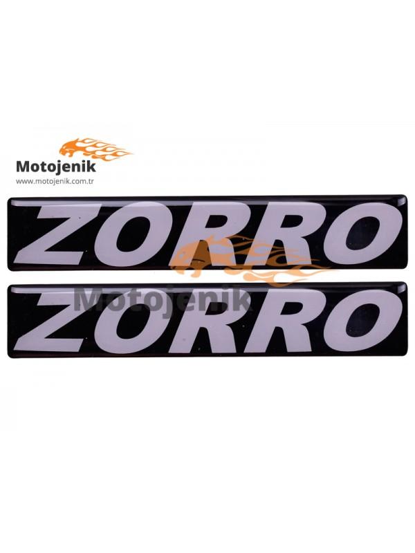 Zorro Cg Depo Yazısı Yapışkanlı