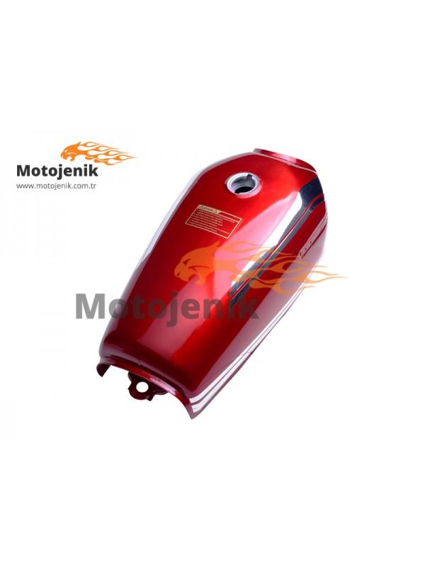 Benzin Deposu Kırmızı CG 125 Nikel Şeritli